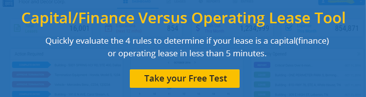 Capital vs finance vs operating lease tool